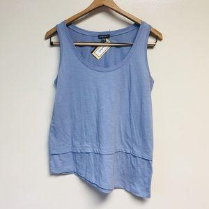 LILLA*P Sundance Light Blue Sleeveless Tiered Top